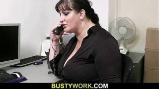 Horny co-worker fucks BBW