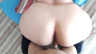 I bounce the big ass of the chubby