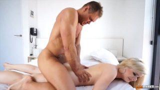 Nacho Vidal fuck russian chick on belly
