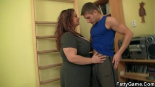BBW fucks her fitness instructor