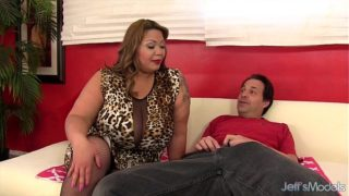 Big titty BBW Miss LingLing rides a cock