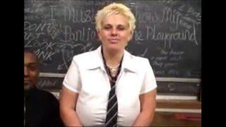 British BBW Keira fucked in classroom.