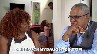 DON'T FUCK MY DAUGHTER – Black Teen Kendall Woods Fucks Her Father's Friend, Jax Slayher