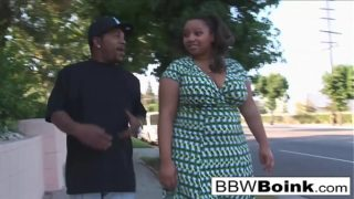 Sexy black BBW heard he'd never fucked a thick girl before